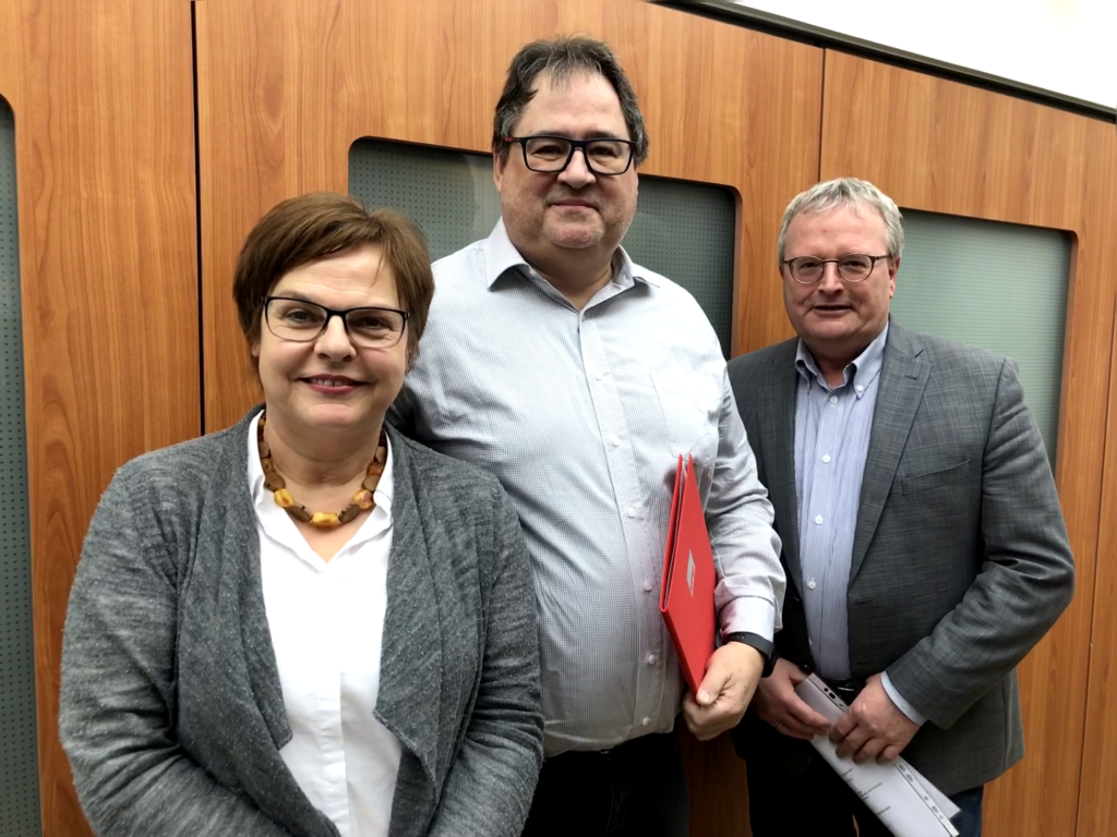 Wolfgang Toboldt mit Silke Lesemann und Olaf Kruse